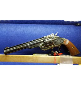 Uberti Uberti Navy Arms Schofield 45Colt<br /> 7.5 in Engraved Blued Finish Walnut Grips-USED Never Fired