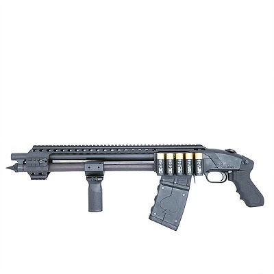 Black Aces Tactical Black Aces Tactical Pro Series 9 PGO Stinger R 12Ga Pistol Grip Quad Rail 15.5In 2-5rd Stick Magazines