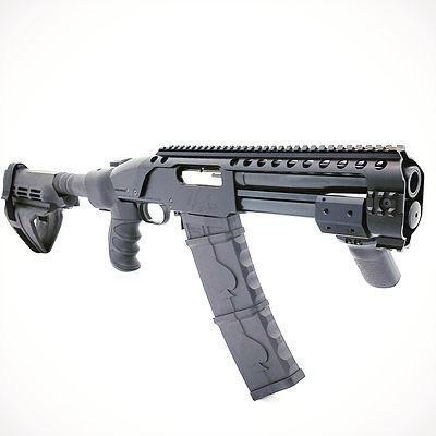 Black Aces Tactical Black Aces Tactical Pro Series 9 DTR 12Ga 8.5in Barrel Quad Rail Forward Grip 10Rd Stick Mag