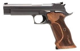 Sigsauer Sig Sauer P210A 9mm 5In Target Blued Thumb Safety 2-8rd Custom Wood Grips