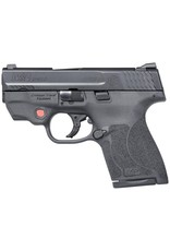 Smith & Wesson Smith & Wesson M&P9 Shield M2.0 With Crimson Trace Red Laserguard 9mm 3.1 Inch Barrel Armornite Finish White Dot Sights Polymer Frame/Grips No Thumb Safety 8 Round
