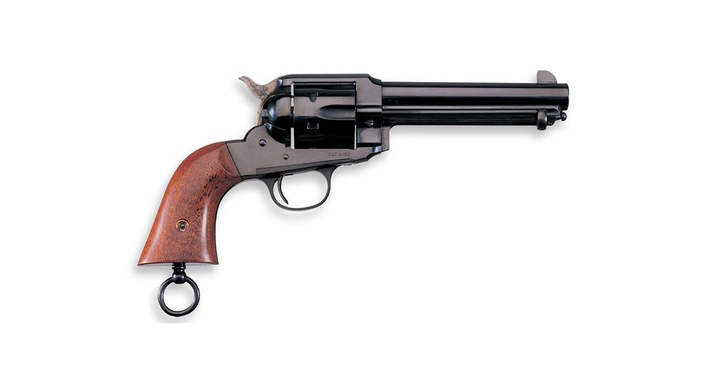 """Taylor's & Co Taylor's & Co Uberti 1890 Army Police 357mag 5.5"""" 6rd Blue Finish Walnut Grips w/ Lanyard Ring"""