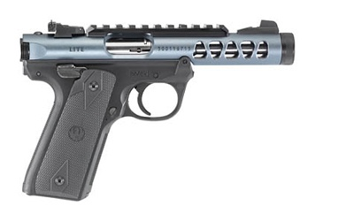 "Ruger Ruger, MK IV, Lite, 22/45, Semi-automatic, 22LR, 4.4"" Threaded Barrel, Polymer Frame, Diamond Gray Finish, Checkered Grips, 10Rd, Adjustable Rear Sight"