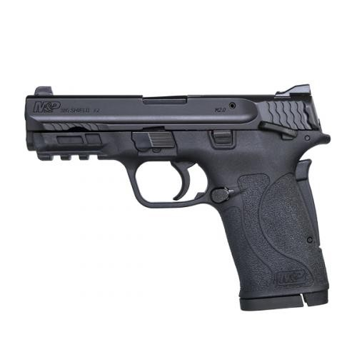 Smith & Wesson Smith & Wesson M&P380 Shield EZ .380 ACP 3.6 Inch Barrel Black Finish Polymer Frame White Dot Front Sight Adjustable White Dot Rear Sight Thumb Safety 8 Round
