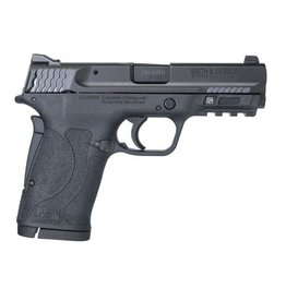 Smith & Wesson Smith & Wesson M&P Shield EZ .380 ACP 3.6 Inch Barrel Black Finish Polymer Frame White Dot Front Sight Adjustable White Dot Rear Sight No Thumb Safety 8 Round