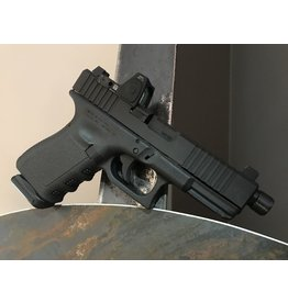 RTSP RTSP Fighting Pistol Package<br /> Glock 19<br /> Trijicon RMR 3.5 moa<br /> SilencerCo Threaded Barrel<br /> Ameriglo Sights<br /> Lone Wolf Slide Kit<br /> Nitride Slide<br /> Ghost X-Mag Release<br /> Glockmeister Backstrap Channel Insert<br /> 3-Magpul PMAG GL9 15-RD