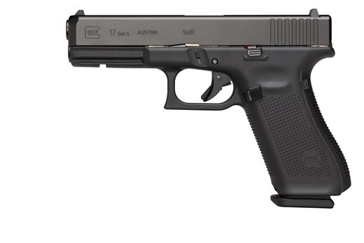 Glock Glock G17 Gen5 9mm 4.49In nDLC Finish Marksman Barrel Flared Mag Well 3-10rd