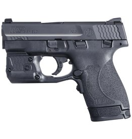 Smith & Wesson Smith & Wesson Model M&P9 Shield M2.0 With Crimson Trace Green Laserguard Pro Laser/Light 9mm 3.1 Inch Barrel Armornite Finish White Dot Sights Polymer Frame/Grips Thumb Safety 8 Round