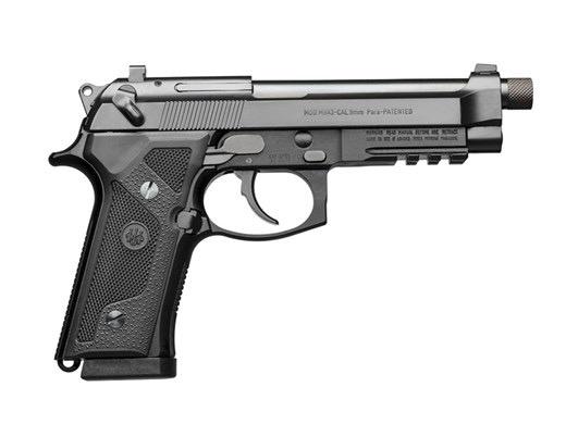 BERETTA Beretta M9A3 Type F 9mm 5In TB Safety Decocker Black Finish Vertec Grips Night Sight 3-10Rd
