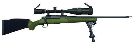 MOSSBERG Mossberg Patriot Night Train III 300 Win Mag 22In w/ Bipod & 6-24X50mm Scope. OD Green Synthetic 4-Rd