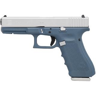 "GLOCK GLOCK 17 GEN4 9MM 4.49"" TITANIUM BLUE CERAKOTE 3-10RD Altered"