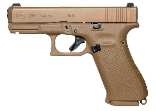 Glock Glock G19X 9mm  4.02In Marksman Barrel Glock Night Sights FLat Dark Earth PVD 3-10rd