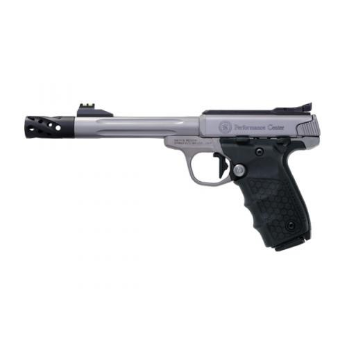 Smith & Wesson Smith & Wesson PC SW22 Victory 6In .22LR Fluted Barrel Tandemkross Hive Grips FO Target Sights Flat Trigger 2-10Rd