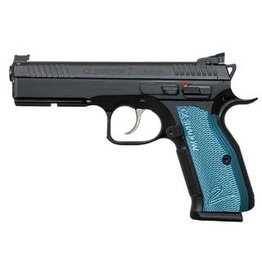 CZ CZ Shadow 2 Black & Blue 9mm AS 9mm 4.89In Fiber Optic Front Sight HAJO rear Blue Grips 3-10rd Alter