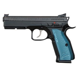 CZ CZ Shadow 2 Black & Blue 9mm AS 9mm 4.89In Fiber Optic Front Sight HAJO rear Blue Grips 3-10rd Alter
