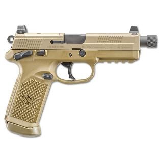 FNH FNH FNX-45 Tactical FDE .45acp 5.3In TB 10Rd Night Sights Slide Milled For RMR Soft Case