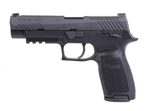 Sigsauer Sig Sauer M17 Bravo 4.7In 9mm Black Nitron Manual Thumb Safety Siglite Night Sights Optics Ready 2-10Rd Alter