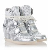 Ash Womens Bea Wedge Sneaker Silver/White