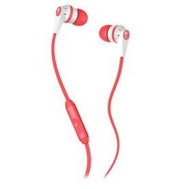 Skullcandy RIOT Mic'd  White/Coral-Whithe