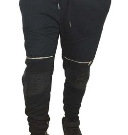 Grooveman Groove | Biker Sweatpants Knee leather