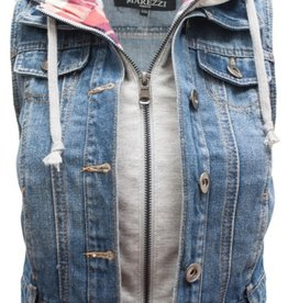 London Vest Hoodie Denim
