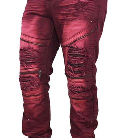 Smoke Rise Biker Denim | Zipper