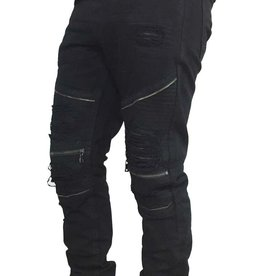 Smoke Rise Denim Moto Long w/zipper