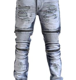 Smoke Rise Denim Moto w/Zipper