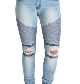 London Moto Zipper Jean