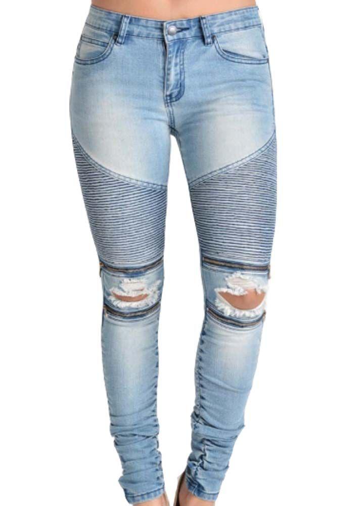 London Moto Zipper Jean