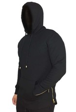Grooveman Hoodie with Gold Zipper