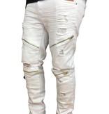 Grooveman Ripped Biker Pants w/zipper