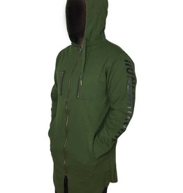 Grooveman Elongated Hoodie With Foil