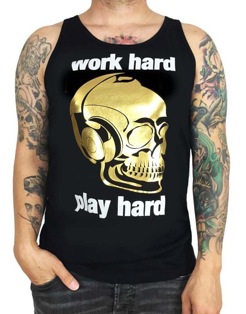 Grooveman Work hard Play Hard Tank