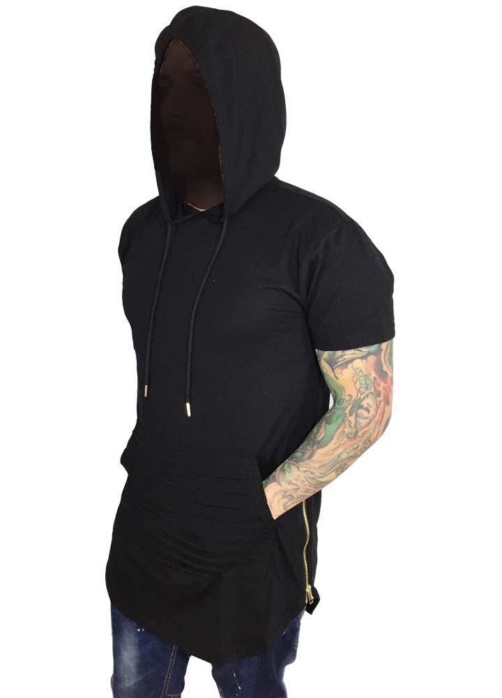 Grooveman Elongated Tee Hoodie w/zip