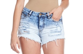 London Destroyed Denim Shorts
