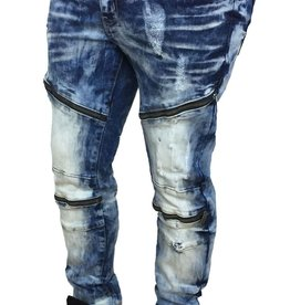 Copper Rivet Denim Wash Span w/Zippers
