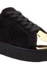 London Sneakers with Shine Gold Metal PU