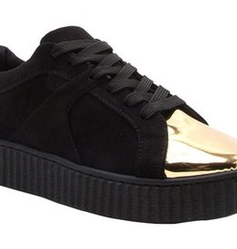 London Sneakers with Shine Gold Metal PU