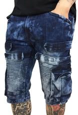 Copper Rivet Cargo Biker Shorts w/Velcro Straps