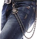 Grooveman Keychain   Leather Star