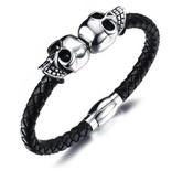 Grooveman Bracelet | Double Skull Magnet
