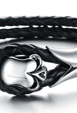 Grooveman Bracelet | Adjustable Leather Skull