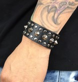 Grooveman Bracelet | Leather with Spikes