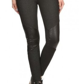 London Patched Leather Leggins