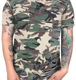 Grooveman Destroyed Camo Tee