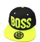 Grooveman Embroidered Hat   Boss 3D Neon Yellow