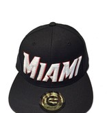Grooveman Embroidered Hat | Miami Blk White Red