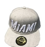 Grooveman Embroidered Hat | Miami Heather Grey