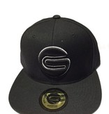 Grooveman Embroidered Hat | G Big Outline White